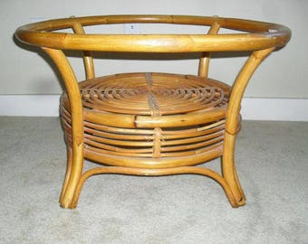 MARCH MADNESS SALE Vintage Mid Century Modern Rattan Wicker Coffee Table