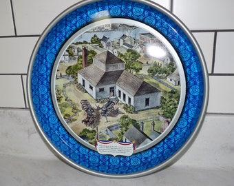 Vintage Pabst Blue Ribbon Beer Tray, 1976 Bi-Centennial Edition,  Pabst Brewery Painting on Tray, Breweriana, PBR me ASAP!, Barware
