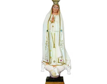"9.5"" Hand-painted Our Lady Of Fatima Statue Virgin Mary Religious Statue #1013"