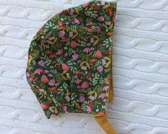Meadow - Reversible Baby Bonnet
