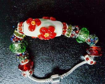 Chunky Flower Tunnel Bracelet