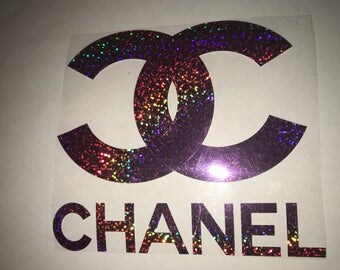 Glitter purple Chanel inspired iron on transfer