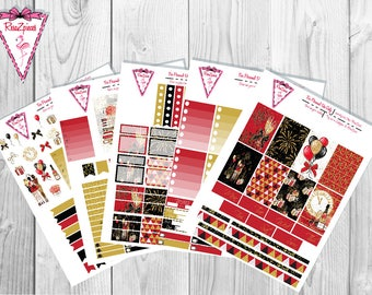 New Year's - Printable Happy Planner Weekly Kit w/Cut Line