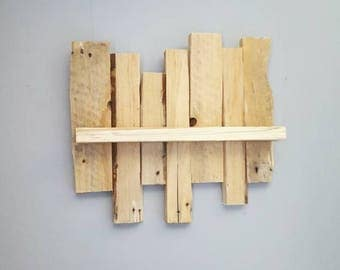 rustic reclaimed pallet wood wall decor small decorative shelf home decor