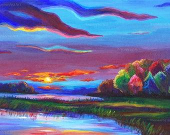 Art Print for Home, Printable art, Beautiful Landscape, Art Landscape, Cute print, Print Landscape, Digital print, Autumn Landscape, Sunset