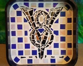 Classic Ford V8 logo mosaic tray