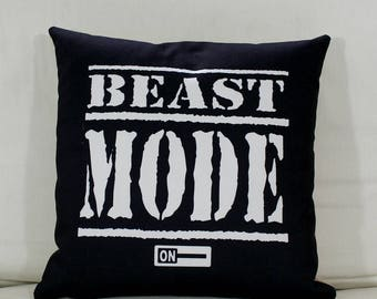 Official Beast Mode On cushion