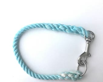 Turquoise Ombre/Solid Dog Collar