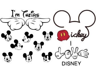 Mickey Mouse svg  Disney  svg mickey mouse ears svg mickey mouse head svg files for Cricut Silhouette Mickey Mouse hands set  Mickey Mouse