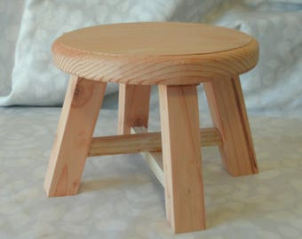 Homemade unfinished Plant Stand, Mini Stool, Small Stool, Made of Pine,  Sanded, Ready to Sand or Stain