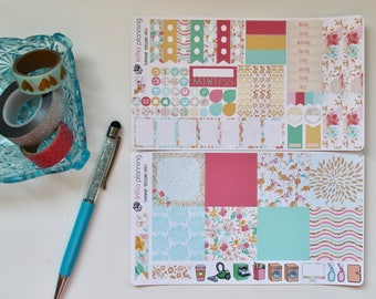 Summer Blossoms - Mini Happy Planner Weekly Kit