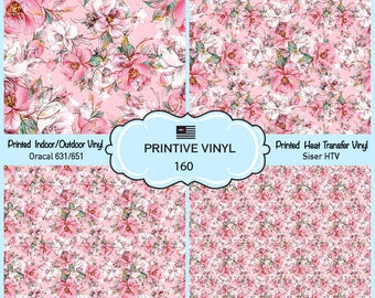 Graceful rosesPattern Printed Vinyl/Siser HTV/ Oracal/ Indoor Vinyl/ Outdoor Vinyl/ Heat Transfer Vinyl-160