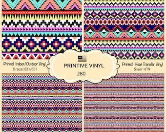 Ethnic striped Pattern Vinyl/Siser HTV/ Oracal/ Indoor Vinyl/ Outdoor Vinyl/ Heat Transfer Vinyl- 280