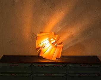 Orange Lampe Designer Lampenschirm Acryl Glas Leuchte Weiss