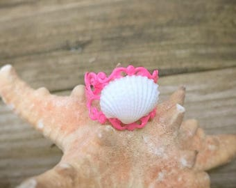 Adjustable Seashell Ring