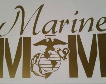 Marine Mom Car Decal