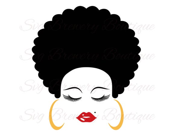 Hair Lashes Eyelashes Lips Face Svg Layered Png Dxf
