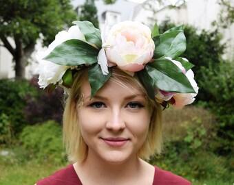 flower crown // Peony