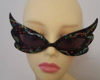 FunSpex Sunglasses Adorned with Swarovski Crystal -  Party On Catwoman