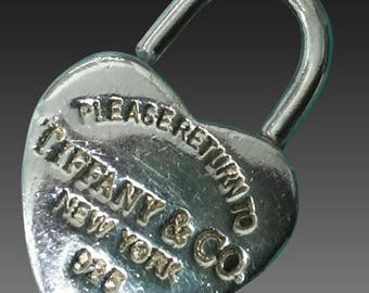 Vintage Tiffany & Co. Sterling Silver Heart Charm Pendant