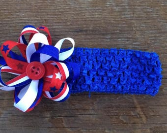 Red, White, and Blue Stars and Strips Headband
