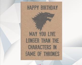 Funny Birthday Card, Jon Snow, Game of Thrones Card, GOT, Funny Game of Thrones Card, Game of Thrones Gift