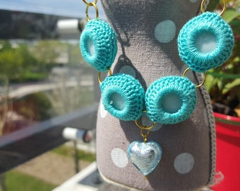 Necklace crochet great and trendy for all occasions
