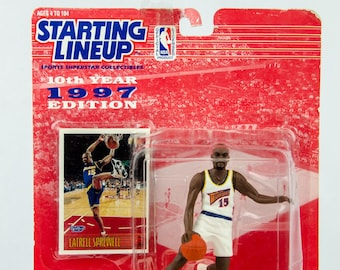 Starting Lineup 1997 NBA Latrell Sprewell Action Figure Golden State Warriors