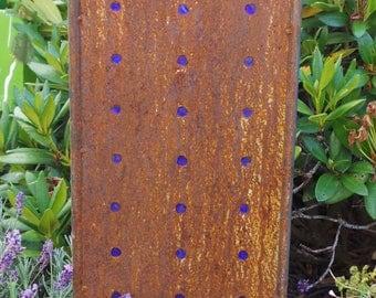 Rust garden sign garden plug glasswork garden decoration
