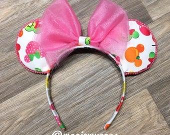 Mickey Fruit Ears - Fruit Mickey Ears - Fruit Disney Ears - Fruit Minnie Ears - Disney Inspired Fruit Ears
