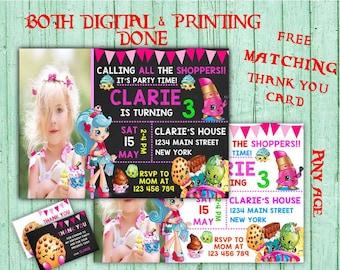 Shopkins Birthday Invitations Shopkins Photo Birthday Party Shopkins Kids Birthday Printable Invitations Shopkins Printable Birthday Card
