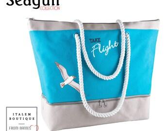 Cool beach bag - beach bag Cooler water resistant cotton canvas