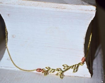 Gold Branch Choker