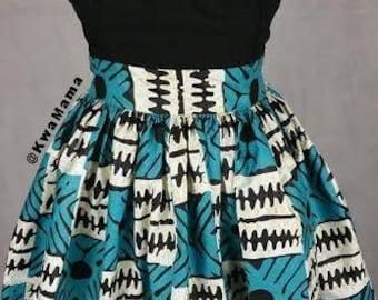 CLEARANCE SALE: Ankara/Lace mix dress, African wax dress, Robe Africaine, Jupe wax, Size US 10
