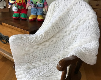 Hand Knitted Quality Pram Blanket