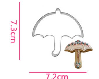 Umbrella Cookie Cutter- Fondant Biscuit Mold - Pastry Baking Tool Set