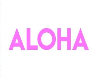 Wall art Print,ALOHA- Wall Decor, jpg, pdf, svg, png, Giclee,  INSTANT DOWNLOAD - wall art -  Printable Art, Wall Decor, Beach Print