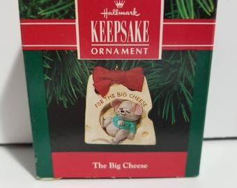 Vintage New in Box Hallmark Keepsake Ornament The Big Cheese 1991