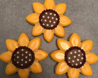 Sunflower Sugar Cookies (1 dozen)