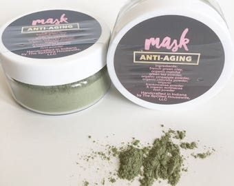 Face | Mask - Anti-Aging - Face Mask, Antioxidants, French Green Clay, Organic, Natural