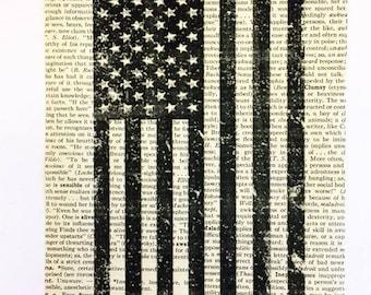 Patriotic Book Page Art