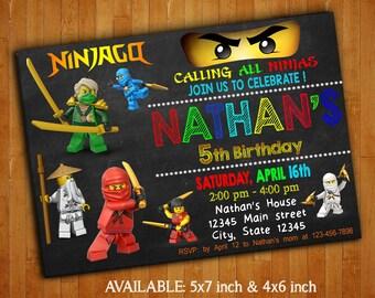 Ninjago Invitations / Ninjago Street Birthday Party Invitation / Ninjago Digital File / Ninjago Printable / Lego Ninjago