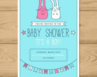 Baby Shower Invitation, Invitacion de baby shower, Beatiful Baby Shower Invitation