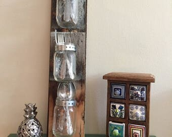 Mason Jar Wall Hanging. Perfect way to store your items in style