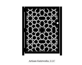 Morocco II Art Gate - Decorative Steel - Mosaic - Moroccan Steel Gate - Mandala Gate - Geometric  Gate - Steel Art Panel - Custom Gate