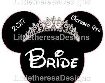 Minnie Bride Princess Iron On Transfer