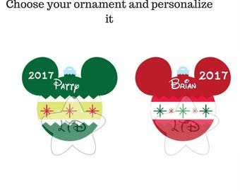 Disney Ornaments Personalized Iron On Transfer