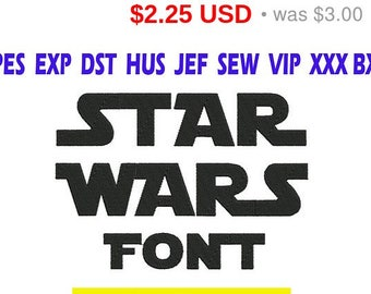 Sale 25% Star Wars font Embroidery/ Star Wars Font embroidery design/ INSTANT download