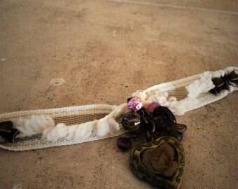 """Secret heart"" charm bracelet-Ribbon"