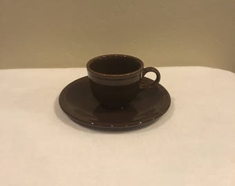 Fiesta Brown Cup and Saucer